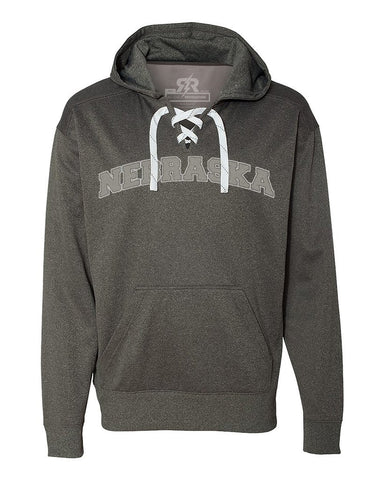 Nebraska Lace Up Hoody by RZR - Charcoal - LS