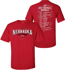 2017 Nebraska Red Zone Schedule Tee - SS - Red