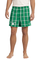 Men's Kelly Green Flannel Boxers - Plaid