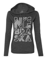 Nebraska Hoody Tee by RZR - LS - Grey