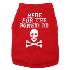 Here for the Boneyard Nebraska Red Dog Shirt