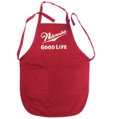 Nebraska Good Life Red Kitchen Apron