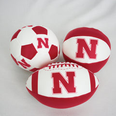 Soft Touch Nebraska 3 Pack Mini Football, Basketball and Soccer Ball