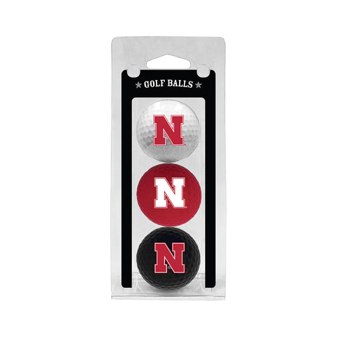 Nebraska 3 Ball Clamshell Golf Balls