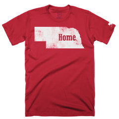 Men's Nebraska is Home Tee - SS - Red