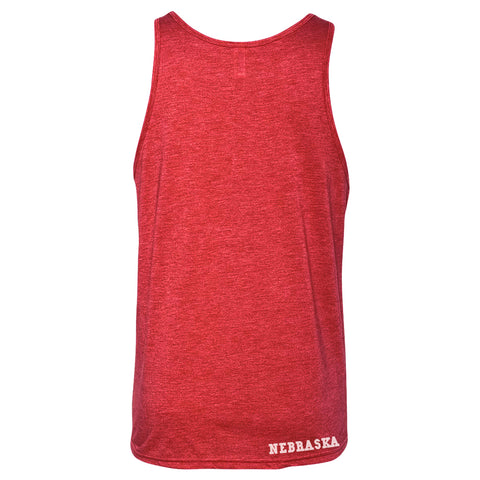 Women's Boyfriend Oversized Tank- Red