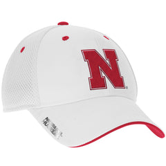 Nebraska Football Structure Adjustable Hat by Adidas - White
