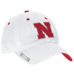 Nebraska Football Adjustable Slouch Hat by Adidas - White