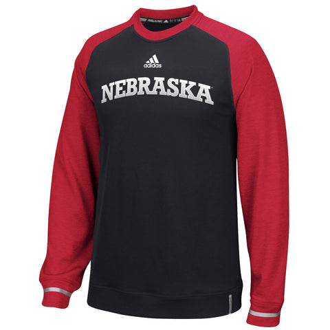 2016 Nebraska Husker Players Sideline Performance Crew by Adidas - LS - Black