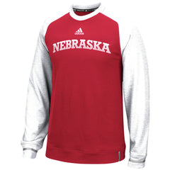 2016 Nebraska Huskers Player Crew by Adidas - Red - LS