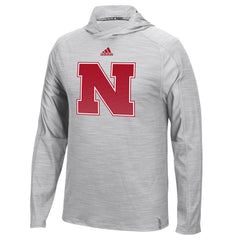 Nebraska Husker Players Training Hood by Adidas - LS - Grey