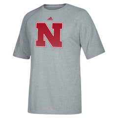 Nebraska Huskers Sideline Post Crew by Adidas - Grey - SS