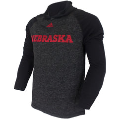 Nebraska Mark My Words Climalite Ultimate Hood by Adidas - LS - Black/Grey