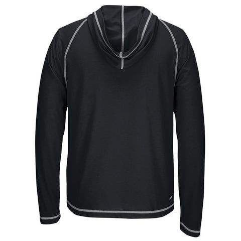 Nebraska Fractured Band Climalite Ultimate Long Sleeve Hood by Adidas - Black - LS