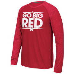 Go Big Red Ultimate Long Sleeve Tee by Adidas - Red - LS