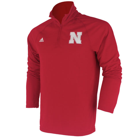 Husker Ultimate Climalite 1/4 Zip by Adidas - Red - LS
