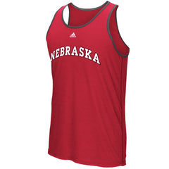 Nebraska Climalite Ultimate Tank by Adidas - Red