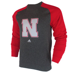 Nebraska Preferred Climawarm Ultimate Fleece Crew - Grey - LS