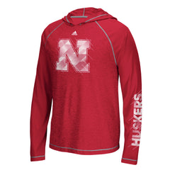 Nebraska Huskers Stealth Surface Climalite Hood by Adidas - Red - LS