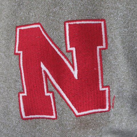 Nebraska 1/4 Zip Hooded Track Jacket- LS - Grey