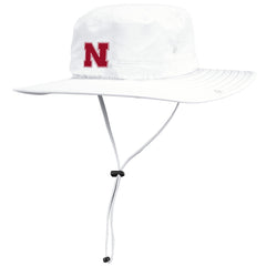 Husker Safari Hat by Adidas - White