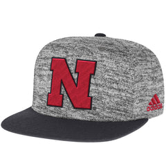 2016 Nebraska Football Player Snapback Hat by Adidas - Grey
