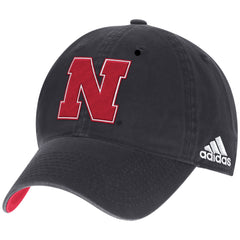 2016 Nebraska Football Travel Slouch Adjustable Hat by Adidas - Grey