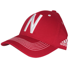 2016 Nebraska Football Coaches Structured Flex Hat by Adidas - Red