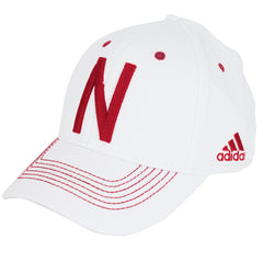 2016 Nebraska Football Coaches Structured Flex Hat by Adidas - White