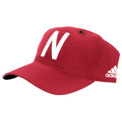 2016 Nebraska Football Coaches Adjustable Slouch Hat by Adidas - Red