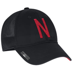 2016 Nebraska Football Coaches Flex Meshback Slope Hat by Adidas - Black