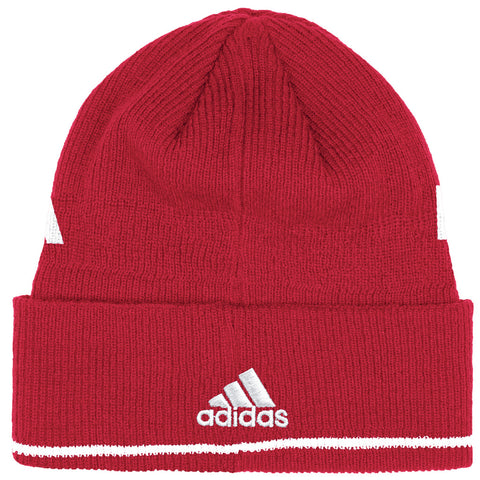 2016 Official Coaches Cuffed Knit Beanie by Adidas - Red