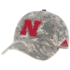Nebraska Digital Camo Adjustable Hat by Adidas - Camo