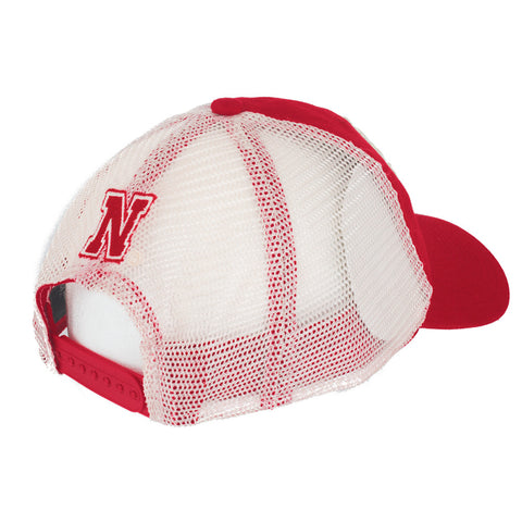Nebraska Huskers Mesh Back Adjustable Slouch Hat by Adidas - Red