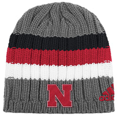 Nebraska Knit Beanie by Adidas - Grey