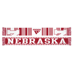 Nebraska Reversible Knit Scarf by Adidas