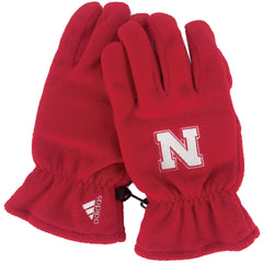 Nebraska Fleece Gloves by Adidas - Red