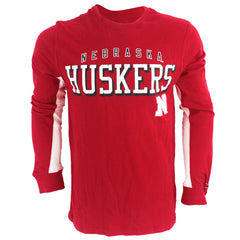 Nebraska Huskers Front Four Tee - LS - Red