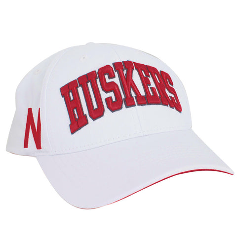 Husker Tradition Game Day Adjustable Hat - White