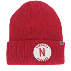 Men's Nebraska Wharf Knit Hat - Red