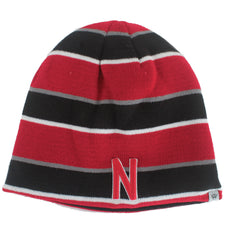 Men's Disguise Nebraska Reversible Knit Hat - Striped