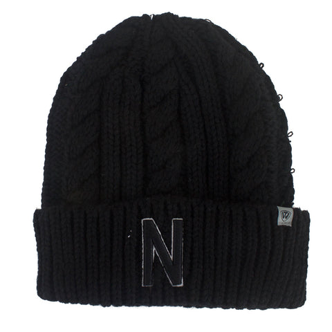Men's Nebraska Cable Knit Hat - Black