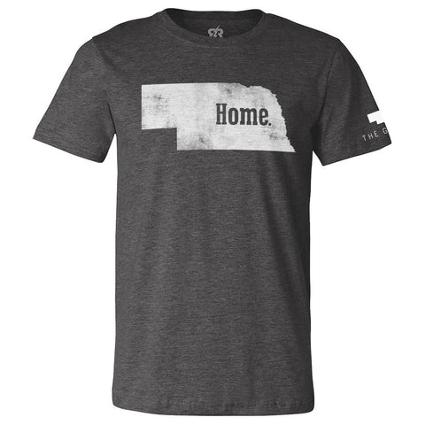 Nebraska is Home Tee - SS - Charcoal