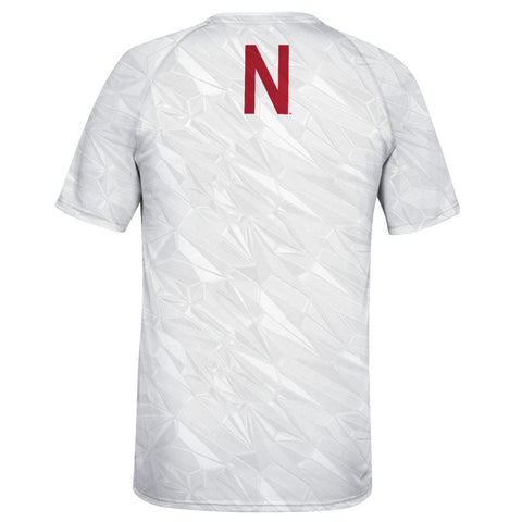 Whiteout Strategy Sublimated Husker Ice Ultimate Tee by Adidas - SS - White