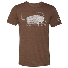 Nebraska Buffalo Roam Men's - Chocolate - SS