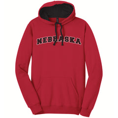 Men's Nebraska Hoodie-Red