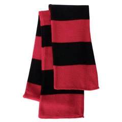 Red & Black Striped Team Color Scarf - Red/Black