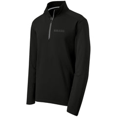 1 LEFT! Men's Nebraska Performance Textured 1/4 Zip by RZR - Black - LS