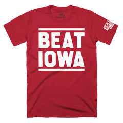 Men's BEAT IOWA Red SS T-Shirt
