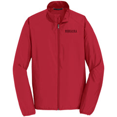 Men's Nebraska Zephyr Full-Zip Jacket by RZR - Red - LS